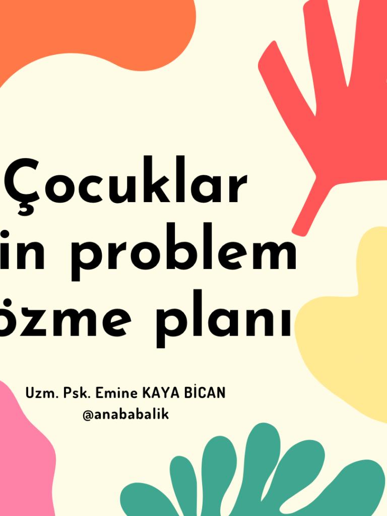 Çocuklar için problem Çözme Planı